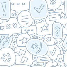 Seamless Chat Bubble Illustration Pattern Or Background