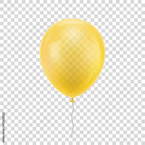 Fotografie, Obraz  Yellow realistic balloon