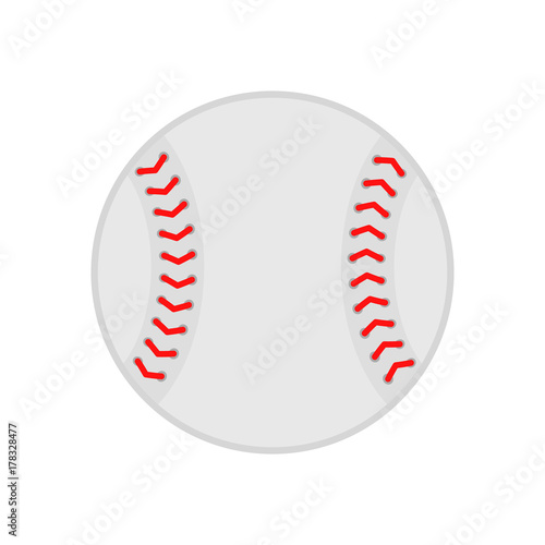 99dae2d8b47a6 Baseball ball. Softball. Vector silhouette. Vector icon isolated on white  background. Flat illustration.