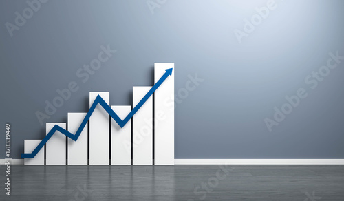 Wachstum Diagramm Zimmerwand - fototapety na wymiar