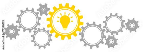 Fotografía  Gears Border Graphics Idea Grey/Yellow