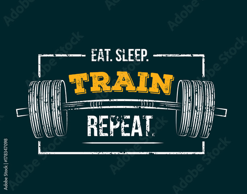 Fototapeta  Eat sleep train repeat