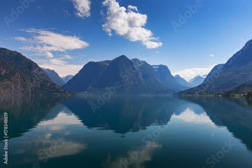 Plakat Jezioro Oppstrynsvatn (Strynevatnet), Norwegia