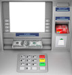 Bank Cash ATM Machine. 3d Rendering