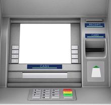 Bank Cash ATM Machine. 3d Rend...