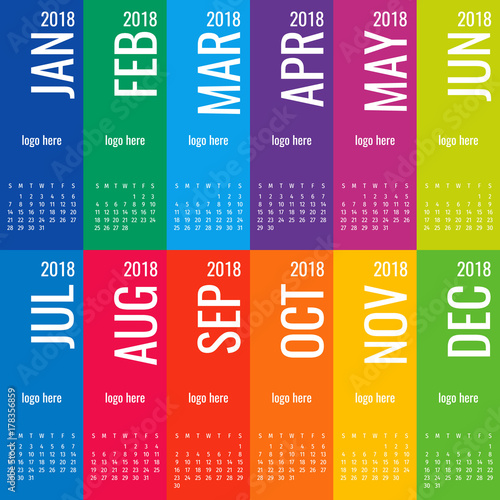 year 2018 calendar vector template modern 2018 calendar vector of calendar 2018 year