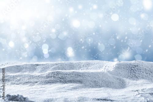 Fototapeta snow background and winter time  obraz na płótnie