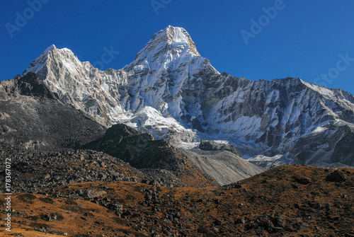 Photo  Nepal sagarmatha national park ama dablam mountain