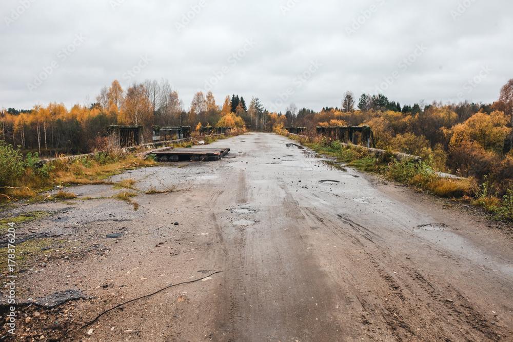 Abandoned road bridge