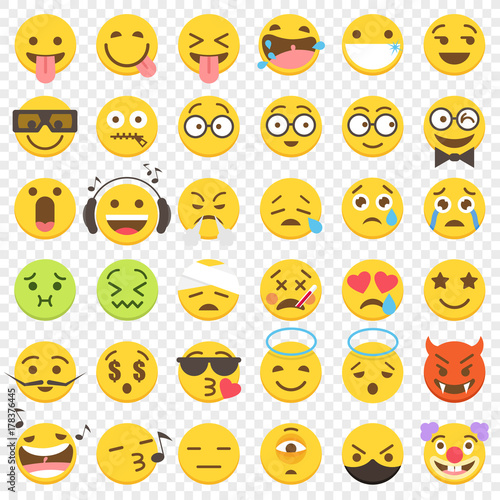 Photo  Vector Emoji big Flat Set 2