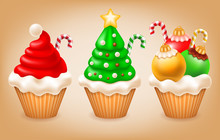 Christmas Cupcakes Set