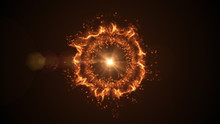 Abstract Burst Of Fire, Plasma...