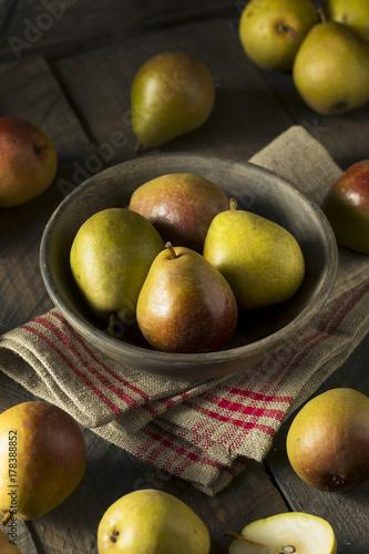 Raw Green Organic Seckel Pears Wallpaper Mural