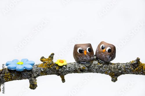 Fotografía  buhos de cerámica