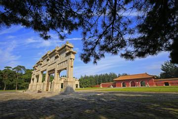 Fototapeta na wymiar Very ancient buildings in China