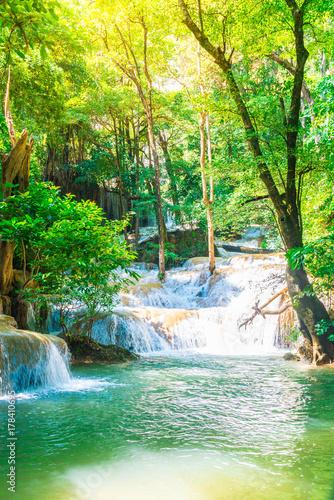 Erawan Waterfall, Erawan National Park at Kanchanaburi in Thailand - 178410695