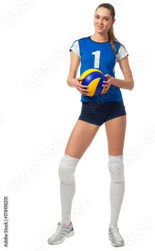 Young girl volleyball player