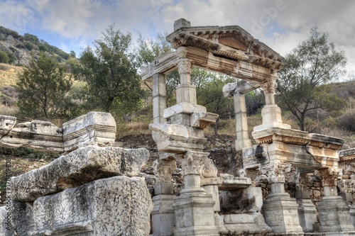 Deurstickers Rudnes Fountain of Trajan, Ephesus Ancient City.