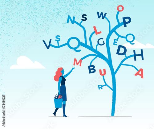 Fotografía  Raccolta di lettere dell'alfabeto