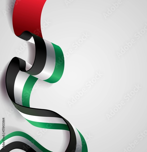 Fotografie, Obraz  UAE Independence Day abstract background in national flag color theme
