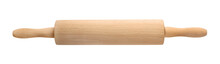 Wooden Rolling Pin On White Ba...