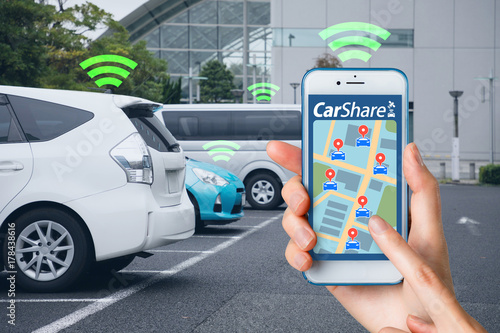 Obraz Car sharing concept. - fototapety do salonu