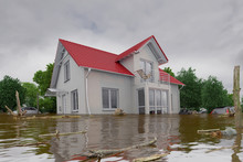 3d Render Of A Flooding White ...