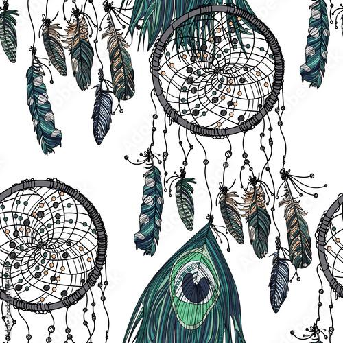 recznie-rysowane-etniczne-dreamcatcher-szwu