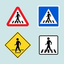 Set Of Pedestrian Crossing Sig...