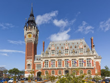 Famous Town Hall Building At Calais, France