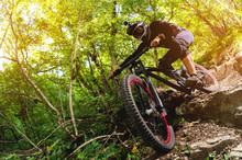 Sport. A Cyclist On A Bike Wit...