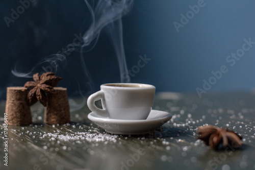 Photo Stands Coffee beans Cup of coffee