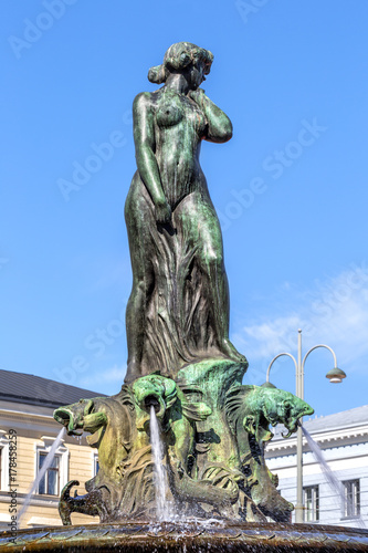 Photo Havis Amanda  fountain at the Trade square, Helsinki, Finland.