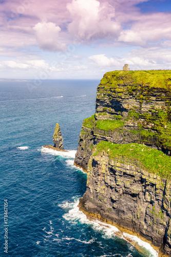 Wall Murals Light pink Cliffs of Moher Klippen Irland Reise Meer Natur Hochformat Ozean