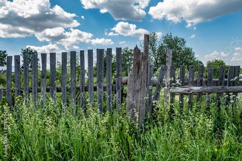 Zdjęcie XXL Stary drewniany płot