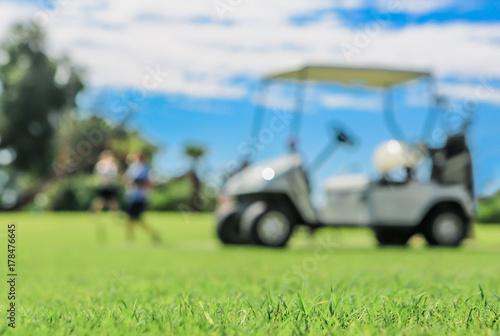 Plakat wózki golfowe
