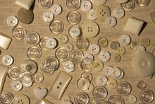 White, Translucent And Pearlized Buttons