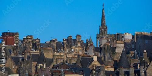 Obraz na dibondzie (fotoboard) Rooftops of Edinburgh Old Town