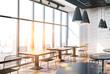 Loft cafe interior toned