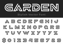 Design Vector Linear Font Titl...