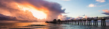 Sunset With Pier, Naples, Florida