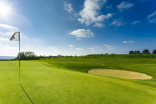 View Of A Green Golf Course, H...