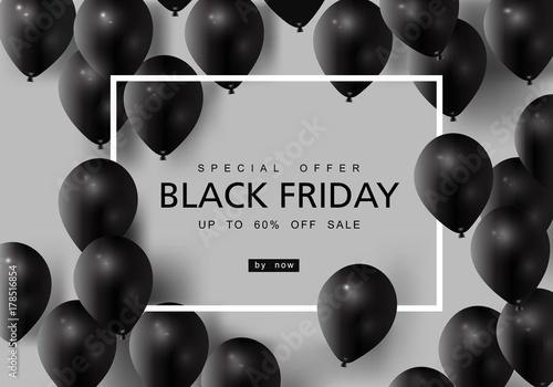 Fotografia  Black Friday, Big Sale, creative template on flat design