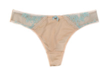 Beige Lacy Panties. Isolate On...