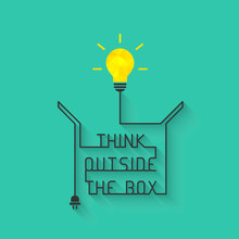 Think Outside The Box Concept ...
