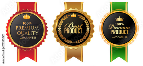 Vector vintage badges collection of high quality, best product,,premium product,best seller Wallpaper Mural