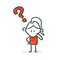 Strichfiguren - Frauchen: Frag...