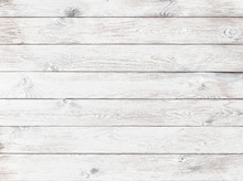 Old White Wood Background Or T...