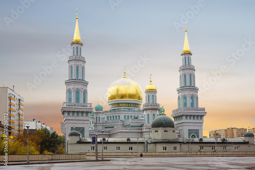 Plakat Moskwa. Meczet Katedralny.