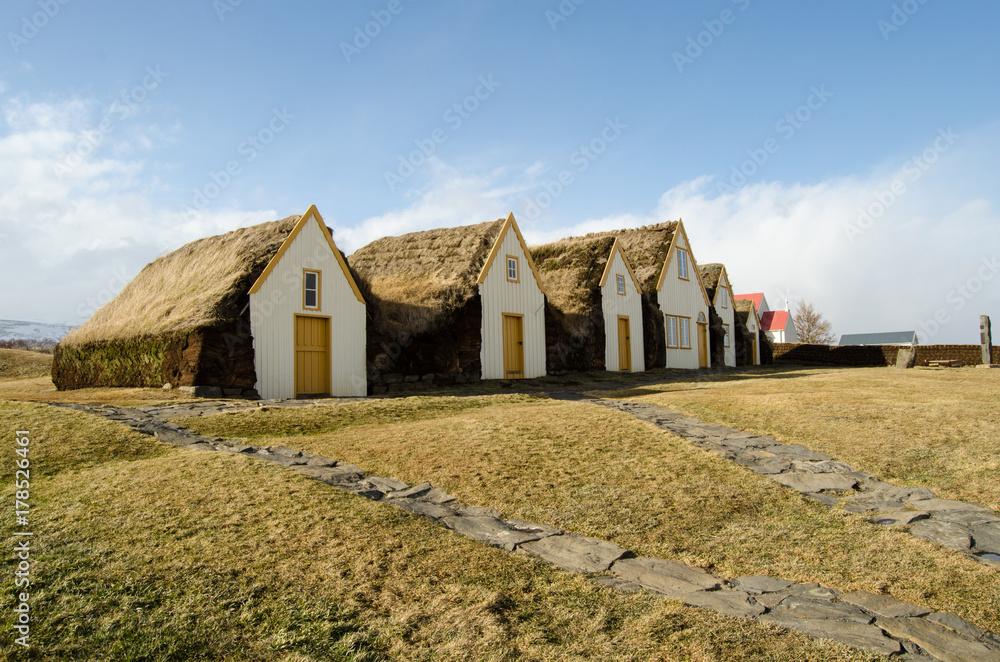 Fototapety, obrazy: Casa Glaumbaer, islandia
